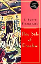 Another cover of the book This Side of Paradise by F. Scott Fitzgerald
