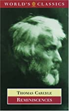 Cover of the book Reminiscences by Thomas Carlyle