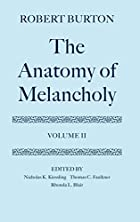 Cover of the book The Anatomy of Melancholy by Robert Burton