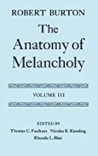 Another cover of the book The Anatomy of Melancholy by Robert Burton