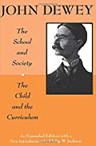Another cover of the book The school and society by John Dewey