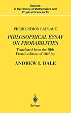 Cover of the book A philosophical essay on probabilities by Pierre Simon Laplace