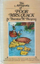 Cover of the book The Adventures of Poor Mrs. Quack by Thornton W. Burgess
