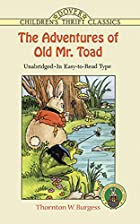 Another cover of the book The Adventures of Old Mr. Toad by Thornton W. Burgess