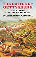 Cover of the book The battle of Gettysburg by Franklin Aretas Haskell