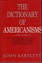 Another cover of the book Dictionary of Americanisms by John Russell Bartlett