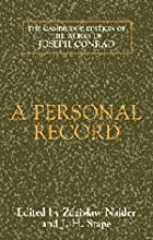 Another cover of the book A Personal Record by Joseph Conrad