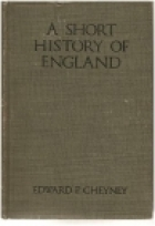Cover of the book A short history of England by Edward Potts Cheyney