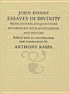 Cover of the book Essays in divinity by John Donne