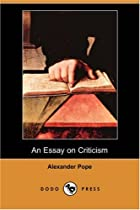 Cover of the book An Essay on Criticism by Alexander Pope