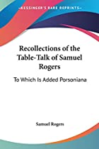 Cover of the book Recollections by Samuel Rogers