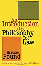 Another cover of the book An Introduction to the Philosophy of Law by Roscoe Pound