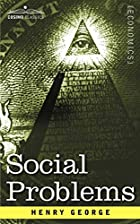 Another cover of the book Social problems by Henry George