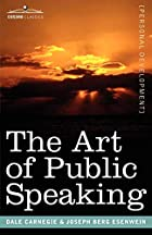 Cover of the book The Art of Public Speaking by Dale Carnegie