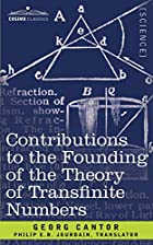 Another cover of the book Contributions to the founding of the theory of transfinite numbers by Georg Cantor