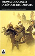 Cover of the book Revolt of the Tartars by Thomas De Quincey