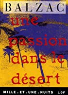 Another cover of the book A Passion in the Desert by Honoré de Balzac