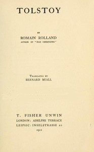 Cover of the book Tolstoy by Romain Rolland