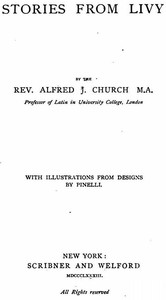 Cover of the book Stories from Livy by Alfred John Church