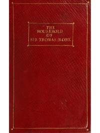 Cover of the book The household of Sir Thomas More by Anne Manning