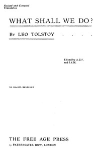 Cover of the book What shall we do? by Leo Tolstoy