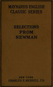 Cover of the book Selections from the prose writings of John Henry, cardinal Newman by John Henry Newman