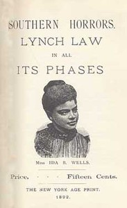 Cover of the book Southern Horrors Lynch Law in All Its Phases by Ida B. Wells-Barnett
