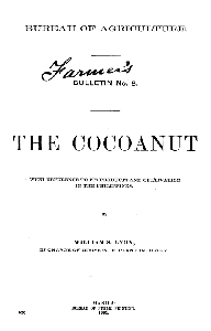 Cover of the book The cocoanut with reference to its products and cultivation in the Philippines by William Scrugham Lyon