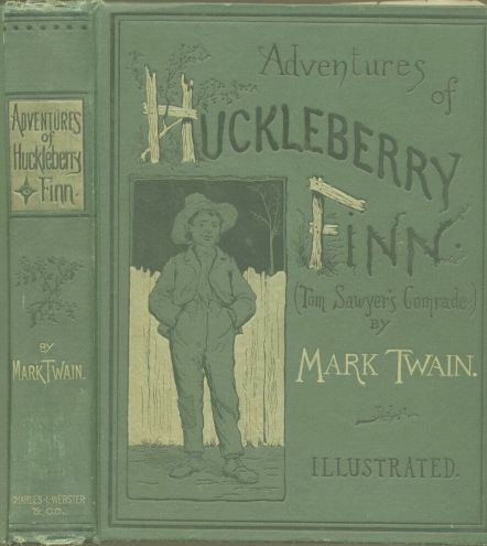 cover for book Adventures of Huckleberry Finn