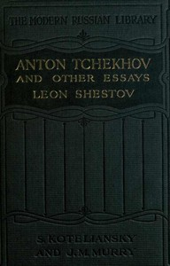 Cover of the book Anton Tchekhov, and other essays by Lev Shestov