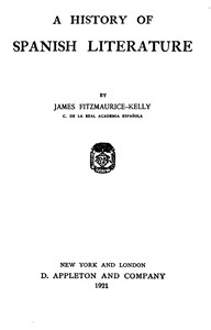 Cover of the book A history of Spanish literature by James Fitzmaurice-Kelly