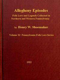 Cover of the book Allegheny episodes; by Henry Wharton Shoemaker