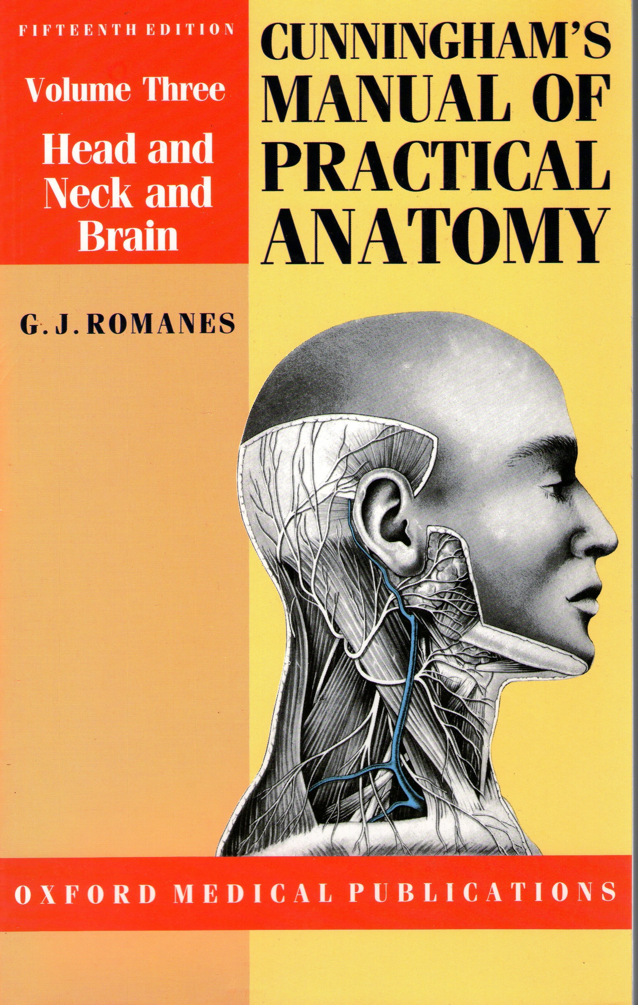 cover for book Cunningham's manual of practical anatomy (Volume 3)