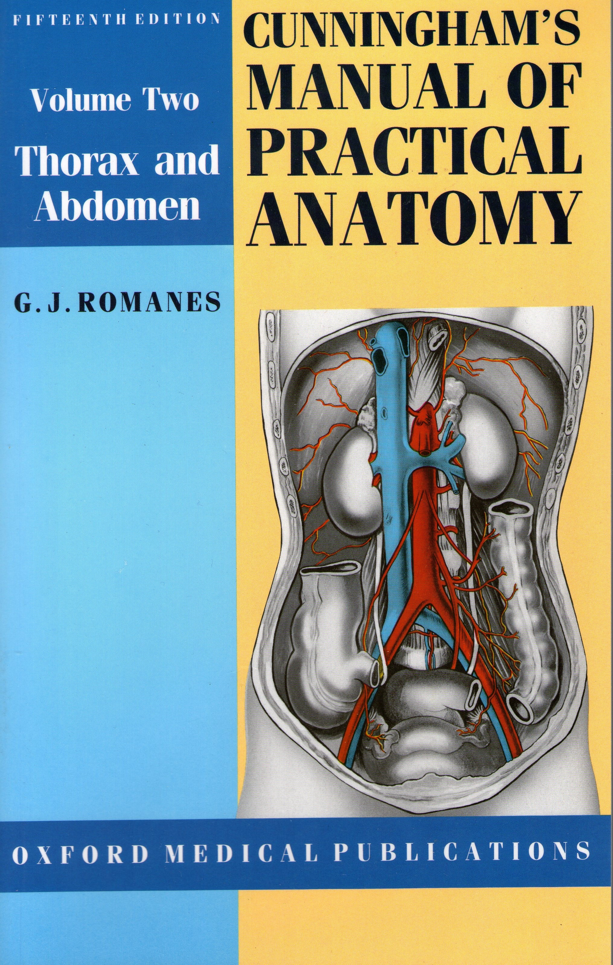 cover for book Cunningham's manual of practical anatomy (Volume 2)