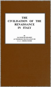 Cover of the book The Civilisation of the Renaissance in Italy by Jacob Burckhardt