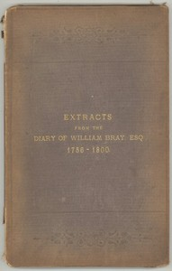 Cover of the book The Diary of William Bray: extracts by William Bray