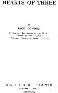 Cover of the book Hearts of three by Jack London