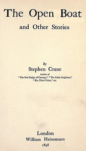 Cover of the book The open boat and other stories by Stephen Crane