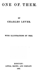 Cover of the book One of them by Charles James Lever