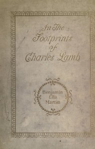 Cover of the book In the footprints of Charles Lamb by Benjamin Ellis Martin