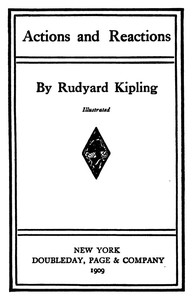 Cover of the book Actions and Reactions by Rudyard Kipling