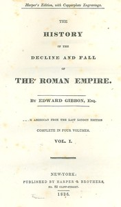 Cover of the book The history of the decline and fall of the Roman Empire (Volume 6) by Edward Gibbon