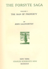 Cover of the book Man of Property by John Galsworthy