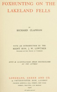 Cover of the book Foxhunting on the Lakeland fells by Richard Clapham