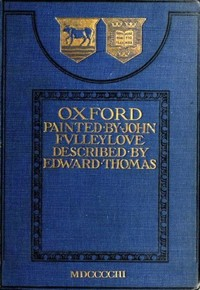 Cover of the book Oxford, painted by John Fulleylove by Edward Thomas