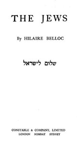 Cover of the book The Jews by Hilaire Belloc