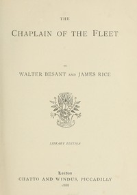Cover of the book The chaplain of the fleet by Walter Besant