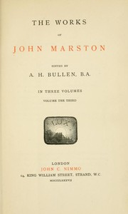 Cover of the book The works of John Marston by John Marston