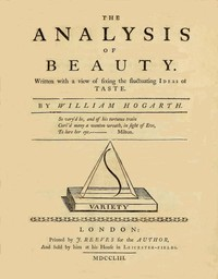 Cover of the book The analysis of beauty: written with a view of fixing the fluctuating ideas ... by William Hogarth