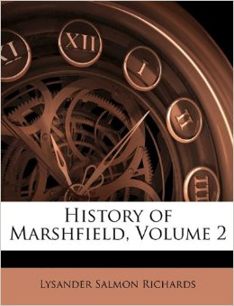 cover for book History of Marshfield (Volume 2)